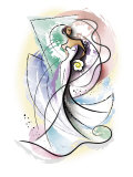 Vase de la mariée Affiches