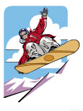 Snowboarder Jumping Prints
