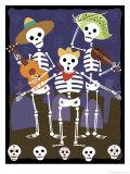 Dia de los Muertos Skeletons Giclee Print