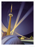 A View of the Cn Tower in Toronto Affiches
