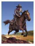 Pony Express Rider Giclee Print