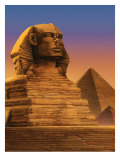 The Sphinx with the Pyramids of Giza in the Background Pôsters