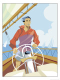 Man Sailing Affiches