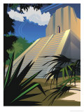 A Mayan Temple in Mexico Poster