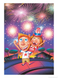 Kids with Sparklers Prints