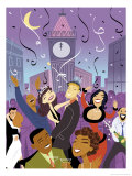 New Years Party Giclee Print