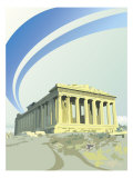 A View of the Parthenon in Athens, Greece Affiche