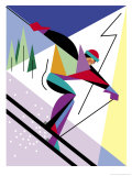 A Downhill Skier Art