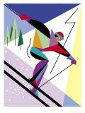 A Downhill Skier Art