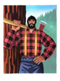 Lumberjack with Axe Art