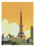 Tokyo Tower, Japan Plakat