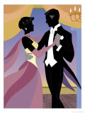 Couple Ballroom Dancing Giclee Print