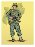 World War II Soldier Affiches