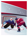 People Playing Hockey Affiches