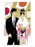 Young Japanese Couple Celebrating Coming of Age Day Posters