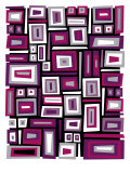 Abstract Rectangle Texture Poster