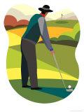 Man Golfing Poster