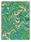 Texture, Wavy Water Affiches