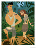 Couple Lost in the Jungle Affiches