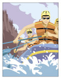 White Water Rafting Prints