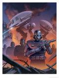 Futuristic War Giclee Print