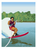 Man Waterskiing Posters