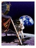 Premier homme sur la lune Posters