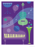 Musical Instrument Montage Prints