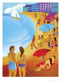 People on a Beach Print