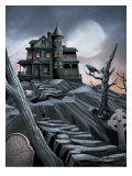 "Haunted House, ""Rip"" Print"