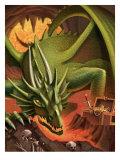 A Dragon Guarding a Treasure Prints