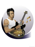 Male Guitarist Prints