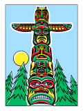 A Totem Pole in the Woods Posters