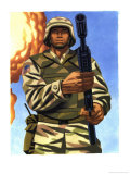 A Soldier with His Gun Affiches