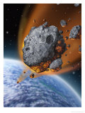 Asteroid Hurtling Towards Earth Poster