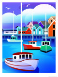 Harbor with Fishing Boats Prints