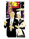 Senior Couple out on the Town Giclee Print