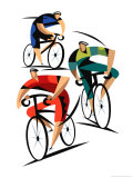 Cyclists Prints