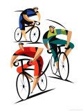 Pyöräilijät Posters