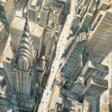 Matthew Daniels - Aerial View of Chrysler Building - Reprodüksiyon