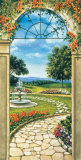 Giardino Con Fontana Art par Giovanbattista Mannarini