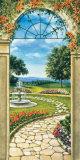 Giardino Con Fontana Affiches par Giovanbattista Mannarini