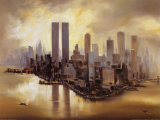 Reflections of Manhattan Poster by Alexander Moore
