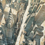 Aerial View of Chrysler Building Print by Matthew Daniels