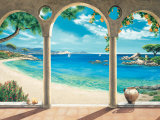 Mediterranean Bay Prints by Robert Dominguez