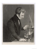 Michael Faraday English Scientist Giclee Print by J. Cook
