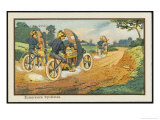 Motor-Cycle Scouts on Reconnaissance Giclee Print by Jean Marc Cote