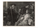Henry IV, Falstaff and Prince Hal Reproduction proc&#233;d&#233; gicl&#233;e par M. Adamo