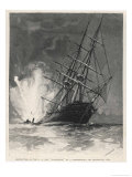 "Confederate Torpedo Boat Sinks the ""Housatonic"" off Charleston Virginia Premium Giclee Print by J.o. Davidson"