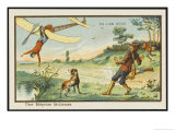 Mistaken for a Bird, an Unfortunate Mishap During a Hunting Expedition Giclee Print by Jean Marc Cote